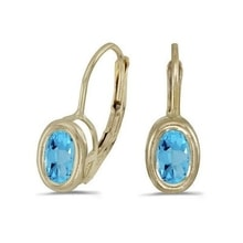 GOLD EARRINGS WITH TOPAZ - TOPAZ EARRINGS - EARRINGS