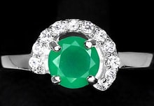 Sterling silver ring with Aventurine - Jewellery Sale