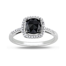 DIAMOND RING IN WHITE GOLD - ENGAGEMENT RINGS WITH FANCY DIAMANDS - ENGAGEMENT RINGS