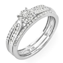 ENGAGEMENT IN GOLD RING WITH DIAMONDS - WHITE GOLD RINGS - RINGS