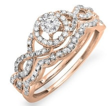 DIAMOND ENGAGEMENT RING OF PINK GOLD - JEWELLERY BY GEMSTONE