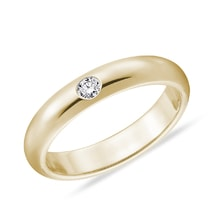 Men's diamond wedding ring in 14kt gold - Rings for Him