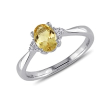 Citrine Ring - Sterling silver rings