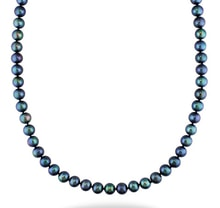 BLACK PERALS NECKLACE - PEARL NECKLACE - PEARLS