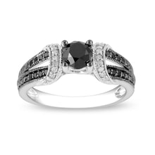 Diamond sterling silver ring - Fine Jewellery