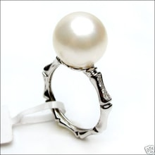 South Pacific pearl and diamond ring - Pearl Rings