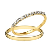 DIAMOND WEDDING RINGS, GOLD - DIAMOND WEDDING RINGS - WEDDING RINGS