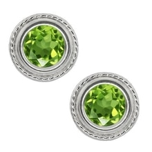 PERIDOT EARRINGS - PERIDOT EARRINGS - EARRINGS
