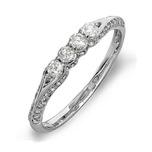 WEDDING RING IN WHITE GOLD WITH DIAMONDS - DIAMOND ENGAGEMENT RINGS - ENGAGEMENT RINGS WITH GEMSTONES