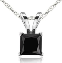 GOLD PENDANT WITH BLACK DIAMOND - DIAMOND PENDANTS - PENDANTS