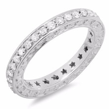 RING WITH DIAMONDS IN WHITE GOLD - DIAMOND RINGS - RINGS