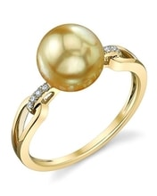 GOLDEN RING WITH GOLD PEARL - SOUTH PACIFIC PEARLS - PEARLS