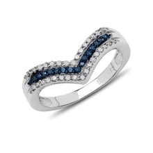 Two color diamond ring - Diamond rings