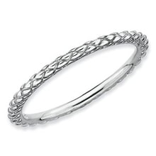 SILVER RING COATED WITH A THIN LAYER OF RHODIUM - STERLING SILVER RINGS - RINGS