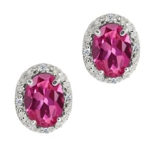 EARRINGS WITH PINK TOURMALINES - TOURMALINE EARRINGS - EARRINGS