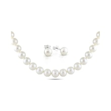 PEARL NECKLACE AND EARRINGS - PEARL SETS - PEARLS