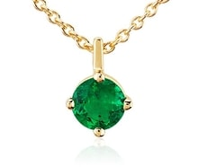 Emerald pendant in yellow gold - Emerald pendants