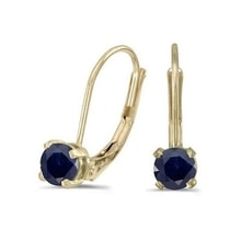 GOLD EARRINGS WITH SAPPHIRES - SAPPHIRE EARRINGS - EARRINGS