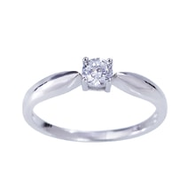 DIAMOND ENGAGEMENT RING IN WHITE GOLD - DIAMOND ENGAGEMENT RINGS - ENGAGEMENT RINGS WITH GEMSTONES