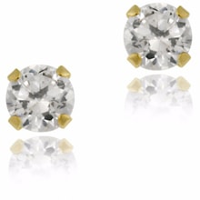 GOLD EARRINGS STONES, ZIRCON - CUBIC ZIRCONIA EARRINGS - EARRINGS