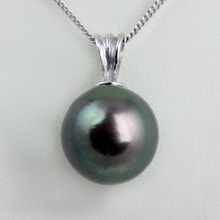 Gold pendant with Tahitian pearl - Tahitian pearls