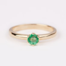Gold emerald ring - Emerald rings