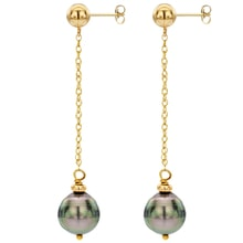 PADLOCKS EARRINGS WITH TAHITIAN PEARLS - TAHITIAN PEARLS - PEARLS