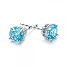 Topaz silver earrings - Topaz Earrings