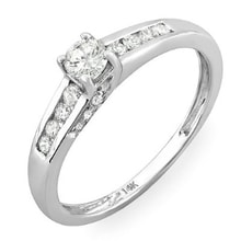 ENGAGEMENT RING IN WHITE GOLD - DIAMOND ENGAGEMENT RINGS - ENGAGEMENT RINGS WITH GEMSTONES