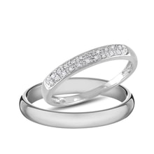 Wedding rings in white gold and diamonds - Diamond Wedding Rings