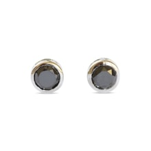 Earrings studs with black diamond - Stud earrings
