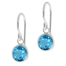 SILVER TOPAZ EARRINGS - TOPAZ EARRINGS - EARRINGS