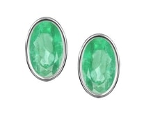 EMERALD EARRINGS, SILVER - EMERALD EARRINGS - EARRINGS