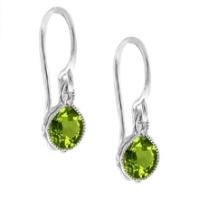 Earrings with green peridot - Fine Jewellery