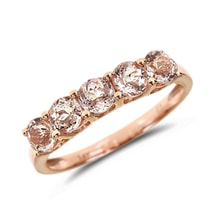 GOLD RING WITH DIAMONDS AND MORGANITE - JEWELLERY BY KLENOTA