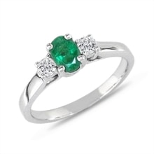 Ring with emeralds and diamonds - Emerald rings