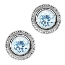 Sterling silver earrings with aquamarines - Jewellery Sale