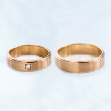Rose gold wedding rings - Rose gold wedding Rings