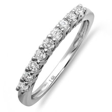 RING IN WHITE GOLD WITH DIAMONDS - WOMEN'S WEDDING RINGS - WEDDING RINGS WITH GEMSTONES