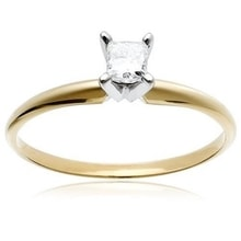 GOLDEN ENGAGEMENT RING - GOLD RINGS - RINGS
