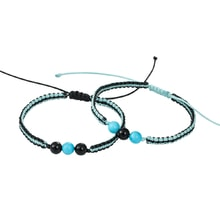 SET OF TWO BRACELETS WITH TURQUOISE AND ONYX - JEWELLERY SALE