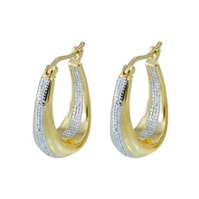 EARRINGS WITH DIAMONDS 0.05 KT - DIAMOND EARRINGS - EARRINGS