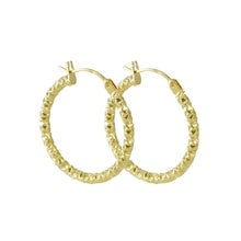 Gold hoop earrings - Gold earrings
