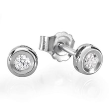 DIAMOND EARRINGS MADE OF WHITE GOLD - STUD EARRINGS - EARRINGS