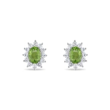 Peridot silver earrings - Peridot Earrings