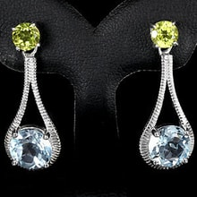 SILVER EARRINGS WITH TOPAZ AND PERIDOT - JEWELLERY SALE