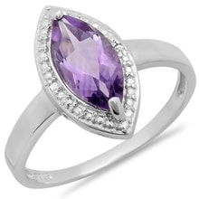 AMETHYST RING WITH DIAMONDS - JEWELLERY SALE