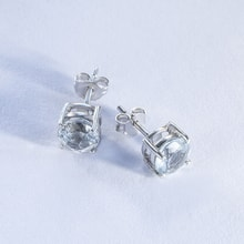 STERLING SILVER TOPAZ EARRINGS - TOPAZ EARRINGS - EARRINGS