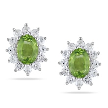 EARRINGS WITH PERIDOT - PERIDOT EARRINGS - EARRINGS