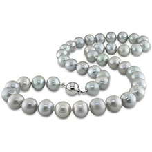 GRAY PEARL NECKLACE - PEARL NECKLACE - PEARLS